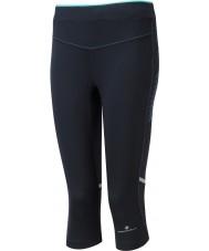 Ronhill RH-002012RH-00196-8 Hyvät aspiration musta piparminttu venyttää capri sukkahousut - koko uk 8 (xs)