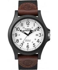 Timex TW4B08200 Mens retkikunta ruskea kangas hihnan katsella