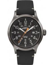 Timex TW4B01900 Mens retkikunta analoginen koholla musta nahkahihna katsella