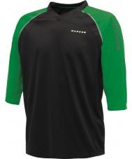 Dare2b Miesten napitut musta vihreä jersey-t-paita