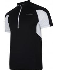 Dare2b DMT136-80040-XS Mens commove black jersey t-paita - koko XS