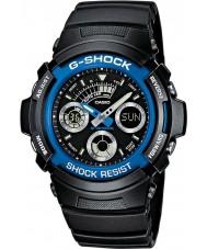 Casio AW-591-2AER Mens g-shock musta ajanotto urheilukelloon