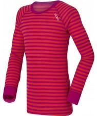 Odlo 10459-70244-104 Lapset crew neck violetti-vaaleanpunainen väliasut top - 3-4 vuotta (104 cm)