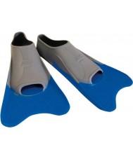 Zoggs 300395 Ultra sininen ja harmaa koulutus evät - uk koko 12