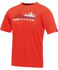 Dare2b Miesten kaupunkikuvaus tulinen punainen t-paita