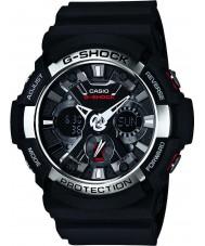Casio GA-200-1AER Mens g-shock maailman aika musta ajanotto katsella