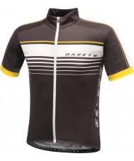 Dare2b DMT133-80040-XS Mens mettle black jersey t-paita - koko XS
