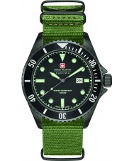Swiss Military 6-4279-13-007 Mens merileijona vihreä nailonhihna watch