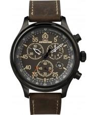 Timex T49905 Mens musta ruskea retkikunta kenttä ajanotto katsella