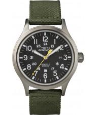 Timex T49961 Mens retkikunta scout vihreä kello