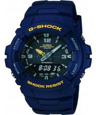 Casio G-100-2BVMUR Mens g-shock sininen hartsi hihna katsella