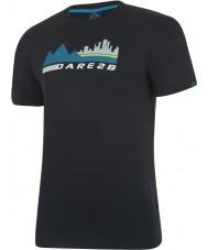 Dare2b Mens city scene musta t-paita