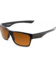 Oakley Oo9189-03 Kaksinaama kiillotettu musta - tumma pronssi aurinkolaseja