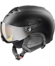 Uvex 5661622205 Hlmt 300 musta suksi kypärä lasergold visiirillä - 55-58cm