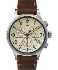 Timex TW4B04300 Mens retkikunta scout ruskea nahka ajanotto katsella
