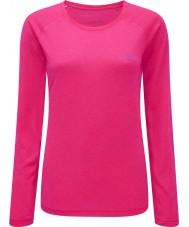 Ronhill RH-001956R027-8 Naisten vizion fluo vaaleanpunainen liike pitkähihainen paita - koko uk 8 (xs)