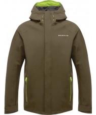Dare2b DMW371-3C435-XXS Mens säännöksen ii kuviolla vihreä vedenpitävä takki - koko XXS