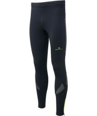 Ronhill RH-001865R848-XL Mens vizion musta fluo keltainen loiste sukkahousut - kokoa xl