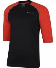 Dare2b Miehet valitaan mustalla tulisella punaisella jersey-t-paidalla