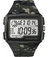 Timex TW4B02900 Mens retkikunta digitaalinen shokki khaki camo Chrono katsella