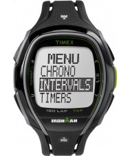 Timex TW5K96400 Ironman 150-kierros täysikokoinen tyylikäs musta hartsi hihna ajanotto katsella