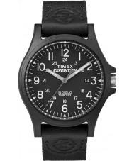 Timex TW4B08100 Mens retkikunta musta kangas hihna katsella